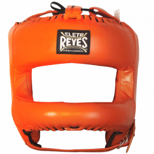 Cleto Reyes Rounded Bar Headguard - Tiger Orange